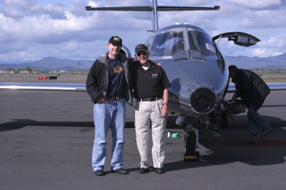 Yours truly with Learjet Pilot, Tom McMurtry. Tom had distinguished career with NASA as a test pilot and flight director. He also co-piloted the 747 Shuttle Carrier Aircraft. He is an amazing pilot and one of the nicest guys you could meet. It was an honor to fly with him.