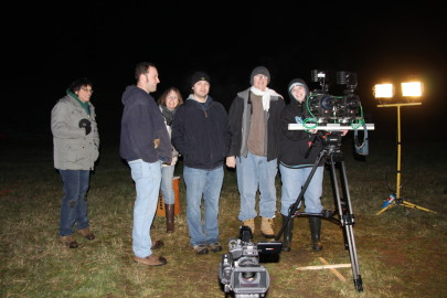 The crew and camera rig. From left to Right: Tina Torres, Donald Barrows, Diane Barrows, Sebastian Rabern, Phil Bates, Annette Gaillard.