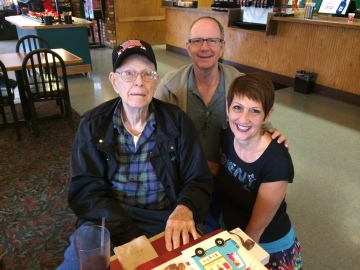 Ralph Bates, son Phil and daughter-in-law Debi (circa 2014).
