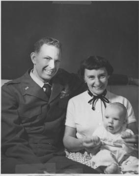 Ralph F. Bates, wife Ruth, son Phil (circa 1954).