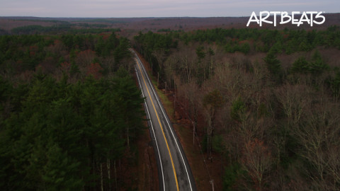 A113-C021C: Following a highway through a forest west of Providence, Rhode Island.