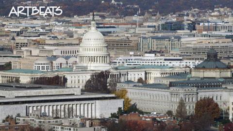 A123-C030: Dome of the US Capitol and surroundings, Washington DC