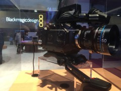 Side view of Blackmagic camera
